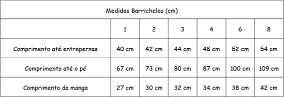 medidas barrichelos