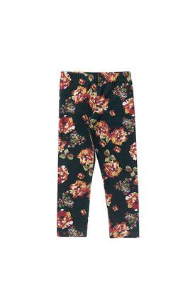 51aea1c09f34e8 Legging Infantil Cotton Roses Duzizo 8331 Verde